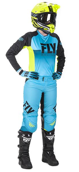 Fly Racing cross Trousers Kinetic Era Blue//Schwarz